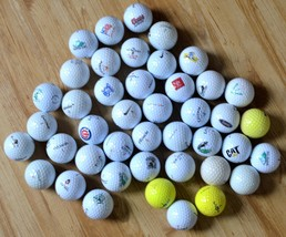 Lot of 43 Used Golf Balls Nike Bridgestone Noodle Pinnacle Callaway Top ... - $14.03