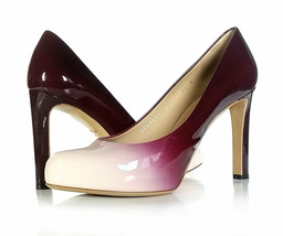$575 Salvatore Ferragamo Shoes Women 7.5 Burgundy 'LEO' Pumps Gradient *... - $266.31