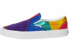 NIB*Vans*Classic Slip On*Sneaker*Rainbow Pride Patchwork *Mens 8-13 - $125.00