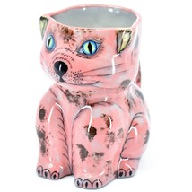 Ceramic Hand Painted Kitten Cat Figure Coffee Cup Mug Handmade Guatemala image 1