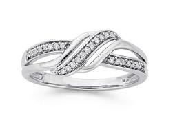 0.56ct Diamond 14k White Gold Elegant Christmas Wedding Gift  Ladies Ring - $733.58