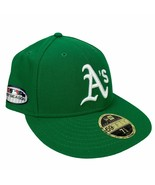 New Era Oakland Athletics 59Fifty Low Profile Fitted Sz. 7 5/8 On-Field ... - $24.99