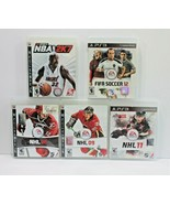 PS3 Playstation 3 Sports Lot of 5 Video Games Gaming - $17.99