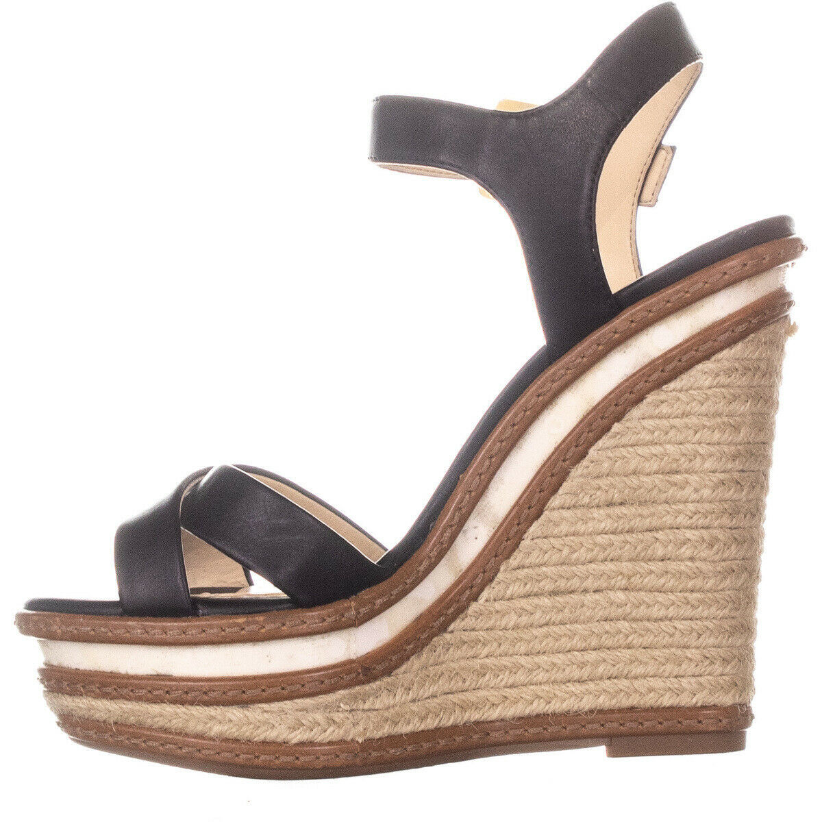 Jessica Simpson Aeralin Wedge Slingback Sandals Black 822