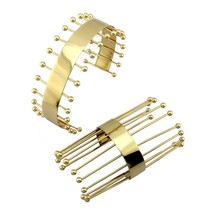 MANILAI Gothic Statement Necklace Cuff Bangle Set Long Strip Weld Geomet... - $28.36