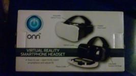 White ONN Virtual Reality Smartphone Headset iPhone Samsung Screens up t... - £11.77 GBP