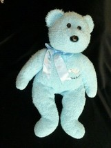 "Ty Beanie Buddy ITS A BOY 13"" Plush Blue Bear~No Tag 2002 Beans - $9.89"