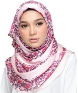 BOKITTA ZAHRI - PRINTED GEORGETTE SATIN INSTANT HIJAB Muslim Scarf Veil ... - $59.22+