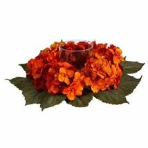 "Luxury Multicolor Autumn Hydrangea Artificial Candelabrum Arrangement  - 14"" - $74.06"
