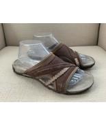 Merrell Brown Nubuck Leather Slide Sandals US Womens 9 - $18.49