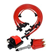 A-Team Performance Distributor, 8mm Spark Plug Wires, and E-Core Ignition Coil C image 1