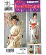 Simplicity Costumes Pattern 4080 Kimono & Accessories Misses Szs 14-20 U... - $8.99