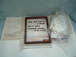 vintage candamar designs plastic canvas needlepoint kit any man can be a father  - $19.75