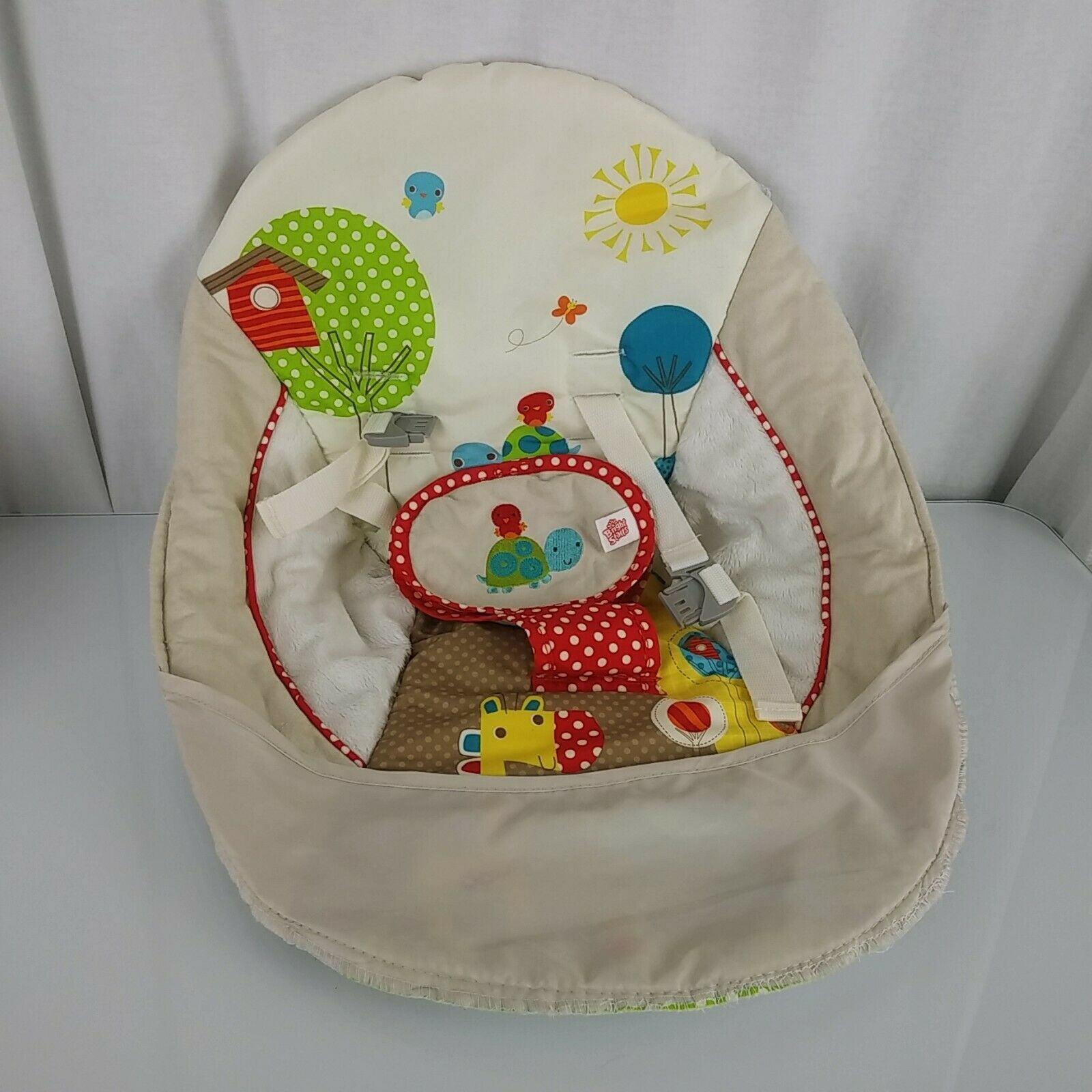 Bright Starts Polka Dot Parade Baby Swing Seat Turtle Bird Hippo Giraffe Animals - $29.69