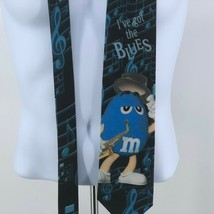 Vintage Whimsical M&Ms Candy I've Got The Blues Novelty Neck Tie USA Made  - $18.33