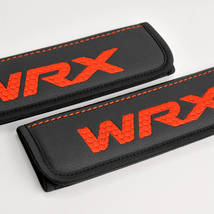 Subaru WRX seat belt covers Leather shoulder pads Accessories with emblem - $35.00