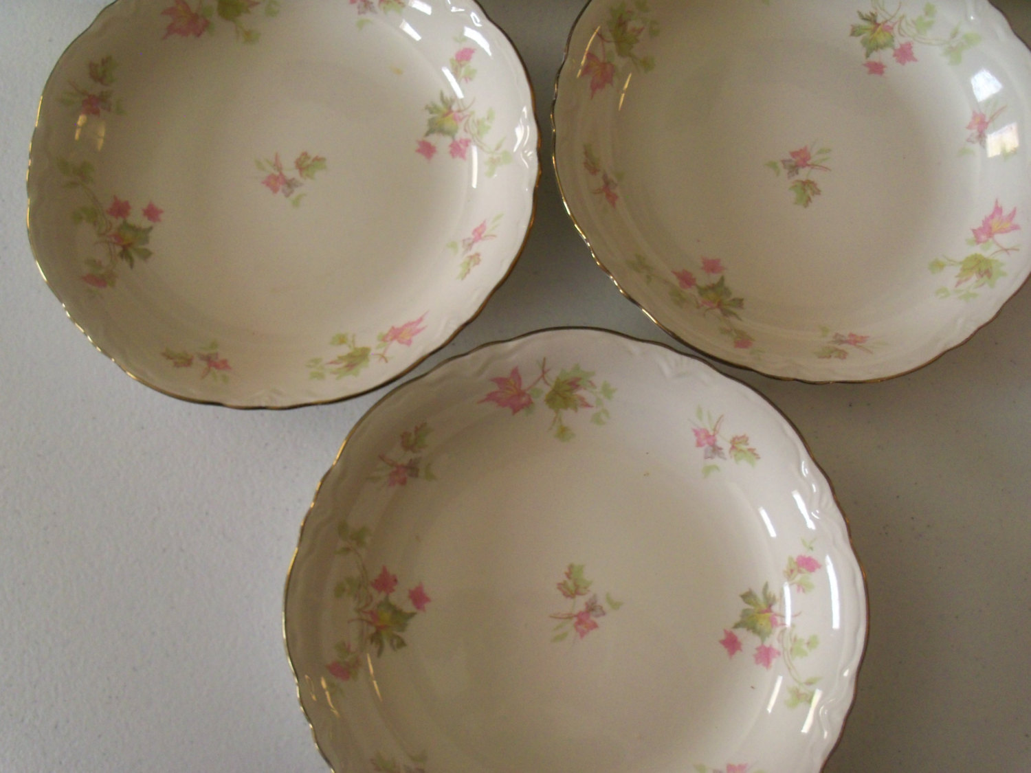 Homer Laughlin Maple Leaf Set Of Six Soup Bowls image 4