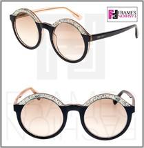 Jimmy Choo Glam Translucent Green Glitter Beige Powder Round Sunglasses GLAM/S - $218.30