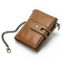 Men Wallets Name Engraving Anti-theft Chain Zipper New Male Purse Long 1... - $46.70