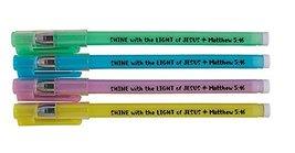 Shine with the Light of Jesus Glow in the Dark Pen Assortment (4 Asst) -... - $52.42