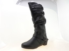 Journee Collection Tiffany Womens Slouch Riding Boots Black Size 8.5 M - $34.64