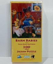 Barn Babies by Sunsout 300pc Puzzle, African American Little Girl & Farm Animals - $14.80