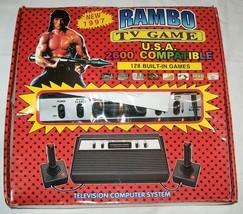 NEW NIB NOS Rambo TV Games Atari 2600 Clone legendary game console 128 Games #09 - $166.50