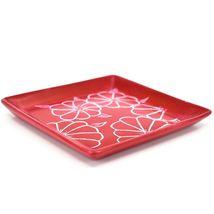 Tabaka Chigware Hand Carved Kisii Soapstone Red Floral Trinket Dish Kenya image 3