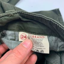 J Brand Cargo Jeans West Point Olive Green USA Women Sz 24 Ankle image 8