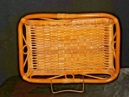 Serving Tray Wicker Basket AA-191707 Vintage Collectible image 1