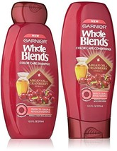 Garnier Whole Blends Color Care Shampoo and Conditioner Set with Argan Oil and C - $12.17