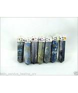 Jet Powerful Lot of 7 Lapis Lazuli Point Pendant 7 Chakra Cabochons 1.5 ... - $49.39