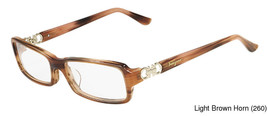 Salvatore Ferragamo SF2611 Light Brown Horn 260 Plastic Women's Frame 53... - $166.67