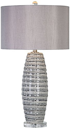 Primary image for Uttermost 27230-1 Brescia - One Light Table Lamp, Smoke Gray/Brushed Nickel/Crys
