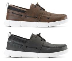 Speedo Hombre Negro/Blanco Marrón Port Ligero Transpirable Agua Barco Shoes Nib