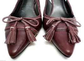 VIA SPIGA Size 8.5 Bugundy Slingback Leather Heels Pumps Shoes 8 1/2 - $21.60