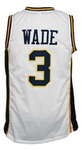 Dwyane Wade #3 College Basketball Jersey Sewn White Any Size image 2