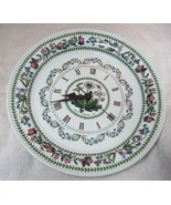 Botanic Garden Portmeirion Dinner Plate Daisy Wall Clock in Great Shape ... - $64.35