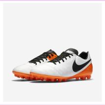 Nike 819217 108 Tiempo Legacy Ii AG-R - WHITE/TOTAL ORANGE/BLACK Size 6 - $56.10