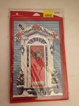 Christmas Cards -Door & Wreath  American Greetings - 10 Count Cards & En... - $5.01