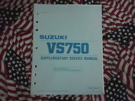 1988 Suzuki Motorcycle VS750 Supplementary Service Manual FACTORY OEM BOOK 88 - $15.83