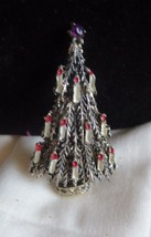 "Vintage Arthur Pepper ""ART"" signed Christmas Tree 12 candlestick silver ... - $19.74"