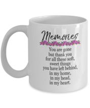 Memories Coffee Mugs - Memorable Gifts For Girlfriend - Top Presents For Her - $13.95