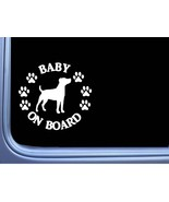 """Baby on Board Jack Russell L550 6"""" Sticker dog decal - $4.99"""