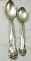 Set of 2 VTG  Montgomery Bros Sterling Silver Tea & Table Spoons monogra... - $118.80
