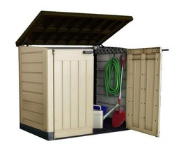 Gardens Storage Shed Bin Box Extra Large Container Bikes Lawn Mower Outs... - $229.13