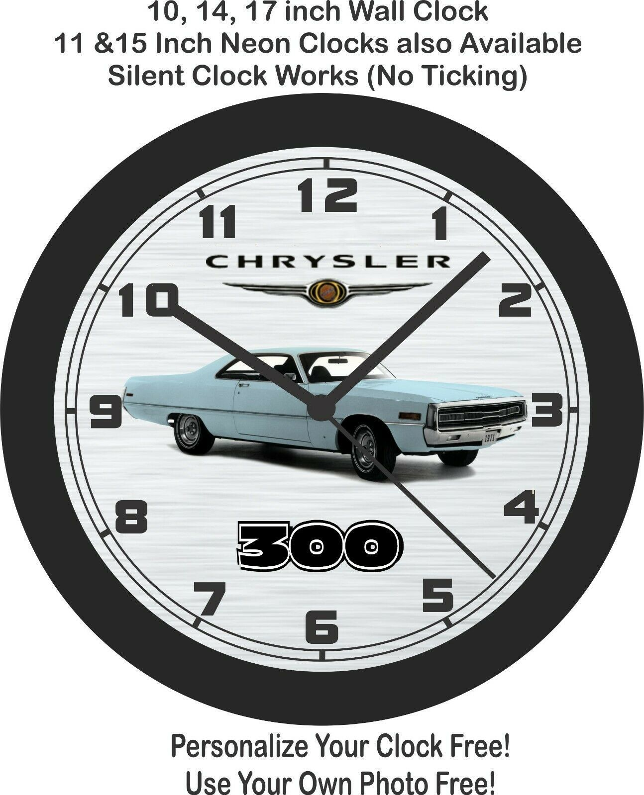 Primary image for 1971 Chrysler 300 Wall Clock-Free US Ship