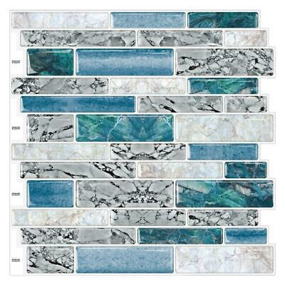 "(Ship from USA)10PCS 12""X12"" 3D Mosaic Wallpaper Sticker Self Adhesive Bathroom"