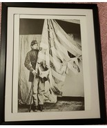 Incredible photo reproduction of a Union Soldier holding a Tattered flag... - $21.99