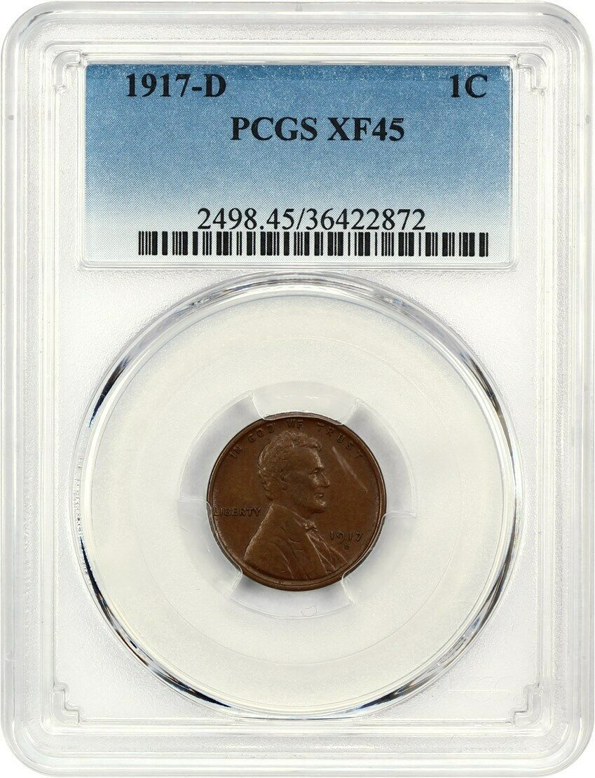 1917-D 1c PCGS XF45 BN - Lincoln Cent